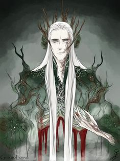 "Remember by GinkgoLouve on deviantART: ""King of Mirkwood as old as the woods. Remembers his suffering but stands as tall as the strongest tree."""