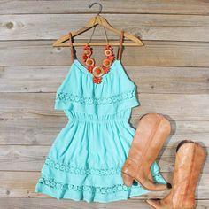 Arizona Summer Dress in Turquoise From Spool No.72 · Originally