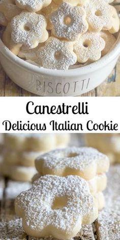Italian Cookie Recipes, Italian Cookies, Italian Desserts, Easy Cookie Recipes, Cookie Desserts, Just Desserts, Sweet Recipes, Baking Recipes, Delicious Desserts