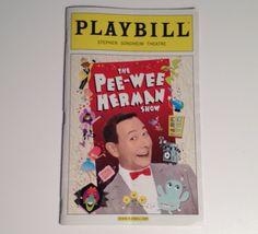 Playbill 2010 Pee Wee Herman Show Paul Reubens Stephen Sondheim Theatre Theater