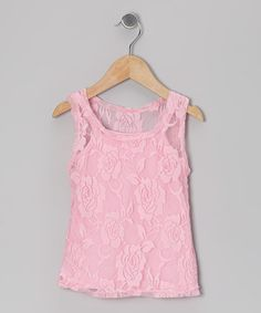 Take a look at this Pink Lace Tank & Camisole - Toddler & Girls by Share n' Smiles on #zulily today!