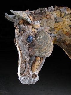 mozaiek beeld, natuursteen