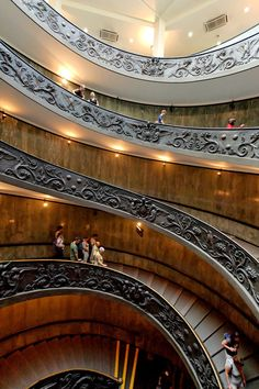 The Vatican stairs (photograph by Sebastian Bergmann) As you may be able to see more clearly here, the stairs are actually two separate helixes, one leading up and the other leading down, that twist together in a double helix formation. Little did the Vatican Museum know in 1932 that this formation would come to represent life itself, with the discovery of the double helical DNA strand.