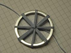 creative-weaving: Leuchtturmknopf