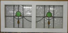 "OLD ENGLISH LEADED STAINED GLASS WINDOW TRANSOM Abstract Sweep 39.5"" x 18.75"" in Antiques, Architectural & Garden, Stained Glass Windows 