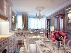 classical kitchen dining room decor