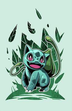 Bulbasaur, pokemon starters by Wei Jing.