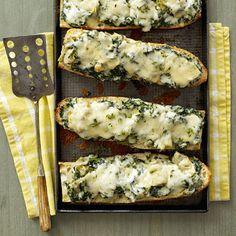 Spinach-Artichoke French Bread Pizza. There are no words...