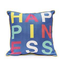 9 by Novogratz Happiness Decorative Pillow - Walmart.com