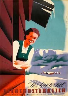Ihr Winterziel: Niederösterreich, Atelier der Kreis. 1953