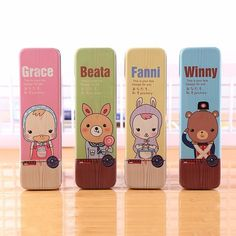Free shipping Cute Pencil cases Case For Girls And Boys Kawaii Mental Anime Pen Stationery School Office Supplies Gift etui box