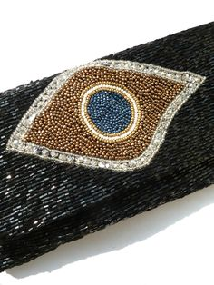 Beaded Evening Clutch - Sparkly Beads - Evil Eye Nazar Symbol by Moyna for IMPERIO jp from IMPERIO jp
