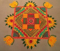 Rangoli Designs - Latest on Web - Pooja Room and Rangoli Designs Easy Rangoli Designs Diwali, Rangoli Designs Latest, Latest Rangoli, Small Rangoli Design, Colorful Rangoli Designs, Rangoli Ideas, Rangoli Designs Images, Beautiful Rangoli Designs, Simple Rangoli