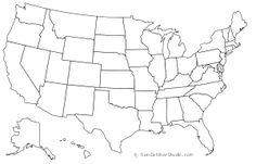 United States of America (USA): Free maps, free blank maps, free outline maps, free base maps