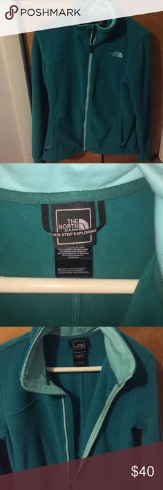 The North Face blue/teal fleece jacket size small The North Face blue/teal super soft fleece jacket size small. Never worn brand new. The North Face Jackets & Coats
