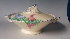 Burleigh Ware vintage Art Deco antique pink blue flower serving dish tureen   eBay June 2016 relist. GBP45 list