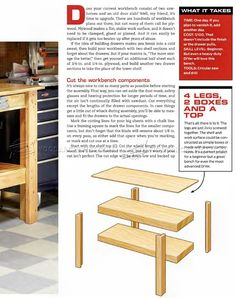 #2739 Simple Workbench Plans - Workshop Solutions