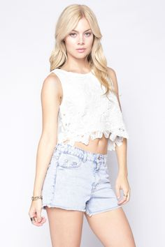 90s Lullaby - SHERRY WHITE TOP, $17.90 (http://www.90slullaby.com/shop/hot-white-summer/sherry-white-top/)