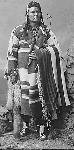 """Hinmaton-Yalaktit (Hin-mah-too-yah-lat-kekt) (1840 - 21 September 1904) was leader of the Nez Perce; most commonly known as Chief Joseph, his Indian name means """"Thunder Rolling Down the Mountain"""""""