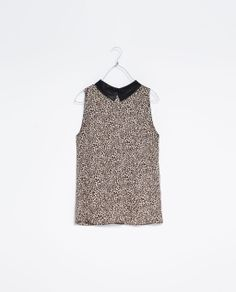 ZARA - TRF - TOP WITH CONTRAST NECK