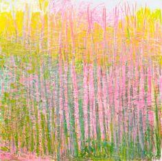 "Wolf Kahn, Surprising Green, 2014, 52 x 52"""