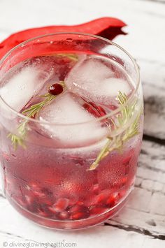 Pomegranate and Rosemary Flavoured Water - Divine Glowing Health