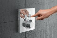 Functional luxury with Hansgrohe ShowerSelect trims Shower Valve, Downstairs Bathroom, Wall Treatments, Home Decor Trends, Montage, Home Accents, Living Room Furniture, Home Accessories, Door Handles