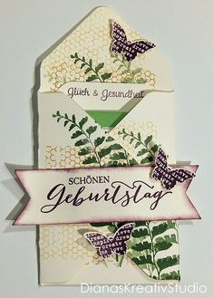 Schönes aus Papier Stampin Up Verpackung Schmetterlingsgruß Tee Envelope Punch Board
