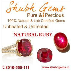 Buy Natural & Certified Ruby Stone Online