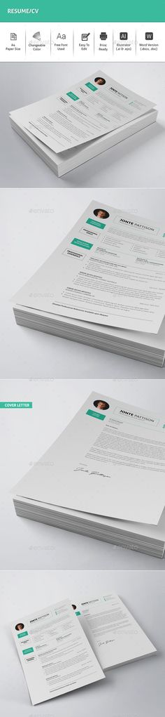 ResumeCv  Resume Cv Ai Illustrator And Cv Template