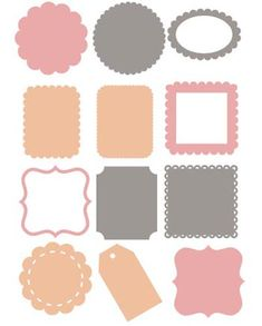 Free Diecut Shapes - free for personal and commercial use, but may not be sold or shared without my permission
