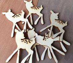 Laser-cut wood shapes: little deer, 12 pieces for $5.50 ...for a woodland party.