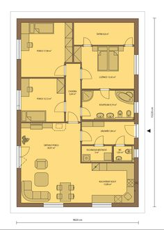Dům jedním tahem bungalov Plutos 4+kk – varianta A