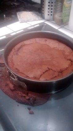 Nigella's gluten and dairy free chocolate cake... Mmmm... (despite the slight leakage)
