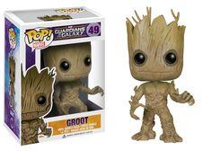 Amazon.com: Funko POP Marvel: Guardians of The Galaxy - Groot Vinyl Bobble-Head Figure: Toys & Games
