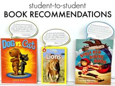 Writing book recommendations could be a great way create authentic opinion writing from students!