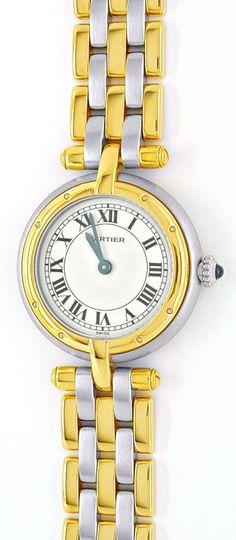 Foto 2, Damen Cartier Panthere Vendome, 3 Streifen Gold, Topuhr, U1042