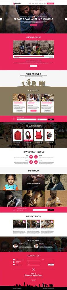 Charity – Responsive WordPress Theme