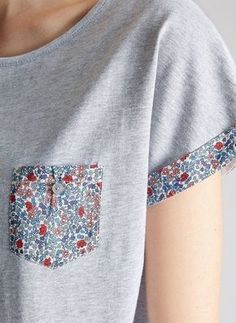 New sewing clothes refashion inspiration ideas ideas Sewing Hacks, Sewing Crafts, Sewing Projects, Upcycled Crafts, Sewing Ideas, Diy Clothing, Sewing Clothes, T-shirt Refashion, Clothes Refashion