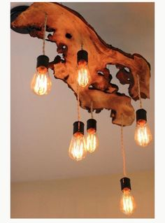 Timber slab pendant