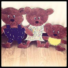 """de 3 beren uit """"Goudlokje en de drie beren"""""""