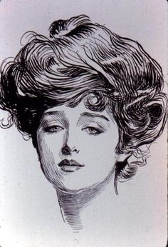 The American Gibson Girl, as drawn by illustrator Charles Dana Gibson, is the basis of the 'Gibson Girl'-collection (Winter 2011 marlies|dekkers), in which this illustration points out the independent spirit as well as natural beauty.