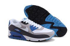 Nike Air Max 90 Herren Schuhe Grau/Blau/Schwarz/Weiß