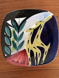 Vintage-GIRAFFE-DISH-by-INGER-WAAGE-Stavangerflint-1950s-Norway-Scandinavian Studio31Vintage on ebay.co.uk