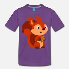 Eichhornchen Mit Eichel Von Cheerful Madness Kinder Premium T Shirt Schwarz Winnie The Pooh Character Pooh