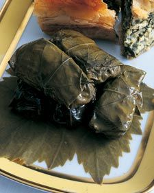 Greek Dolmades......Jars of grape leaves are available at many grocery stores and at Greek markets.