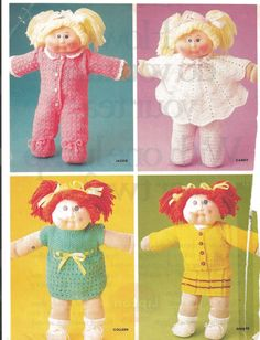 Cabbage patch doll pattern free patterns cabbage patch dolls vintage cabbage patch clothes knit and crochet patterns family circle 1985 by preciousidentity on etsy dt1010fo