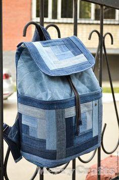 65dfa02ed507 Купить или заказать Джинсовый рюкзак в интернет-магазине на Ярмарке  Мастеров. Стильный джинсовый рюкзак
