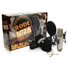 """Rode NT2 A Multi-Pattern Dual 1"""" Condenser Wired Microphone  The NT2-A carries on the tradition forged by the now legendary RØDE NT2. A professional large 1"""" capsule studio microphone incorporating three-position pick-up patterns pad and high pass filter switches conveniently located on the mic body."""