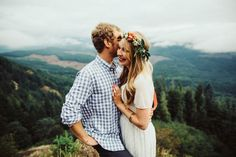 Mountain Peak Engagement - Dylan and Sara Photography